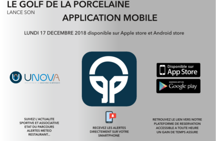 LE GOLF DE LA PORCELAINE LANCE SON 						APPLICATION MOBILE